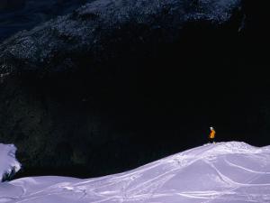 Heli-Skiing Down the Slopes Near Wanaka, Wanaka, Otago, New Zealand by David Wall