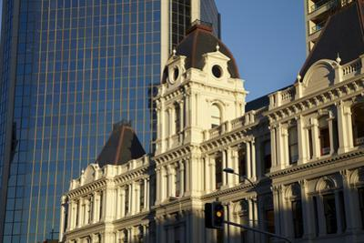 Historic Customhouse and modern glass building, Auckland, North Island, New Zealand by David Wall