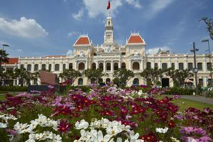 Historic People's Committee Building, Ho Chi Minh City, Saigon, Vietnam by David Wall