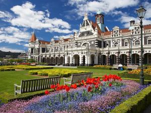 Historic Railway Station, Dunedin, South Island, New Zealand by David Wall