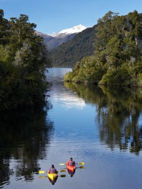 Kayaks, Moeraki River by Lake Moeraki, West Coast, South Island, New Zealand by David Wall