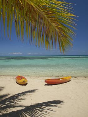 Kayaks on the Beach, Plantation Island Resort, Malolo Lailai Island, Mamanuca Islands, Fiji by David Wall