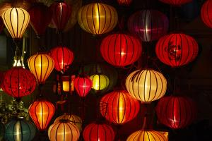 Lantern shop at night, Hoi An, Vietnam by David Wall