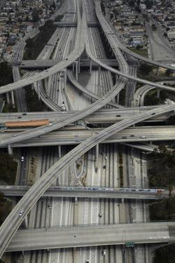 Los Angeles, Aerial of Judge Harry Pregerson Interchange and Highway by David Wall