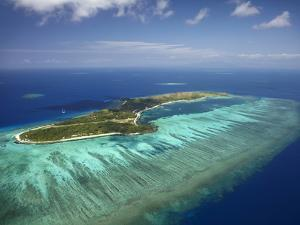 Mana Island and Coral Reef, Mamanuca Islands, Fiji by David Wall