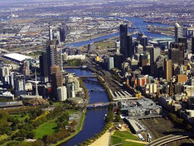 Melbourne CBD and Yarra River, Victoria, Australia by David Wall