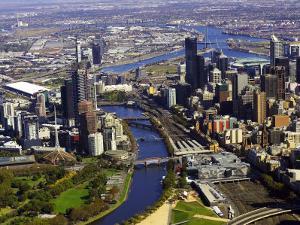 Melbourne CBD and Yarra River, Victoria, Australia by David Wall