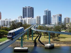 Monorail by Jupiter's Casino, Broadbeach, Gold Coast, Queensland, Australia by David Wall
