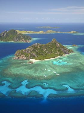 Monuriki Island and Coral Reef, Mamanuca Islands, Fiji by David Wall