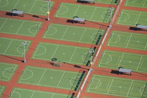 Netball Courts, Auckland Netball Center, Mount Wellington, Auckland, North Island, New Zealand by David Wall