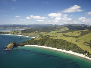 New Chums Beach, and Motuto Point, Coromandel Peninsula, North Island, New Zealand by David Wall