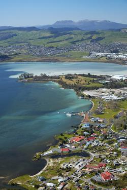 Ohinemutu Maori Village, Lake Rotorua and waterfront, Rotorua, North Island, New Zealand by David Wall
