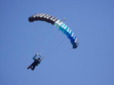 Parachuter, Omarama, North Otago, South Island, New Zealand