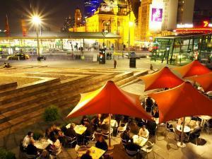 Restaurant in Federation Square, Melbourne, Victoria, Australia by David Wall