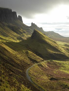 Road Ascending the Quiraing, Isle of Skye, Scotland by David Wall