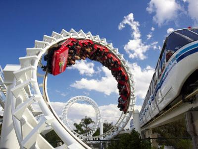 Rollercoaster, Sea World, Gold Coast, Queensland, Australia by David Wall