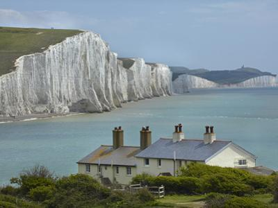 Seven Sisters Chalk Cliffs, Cuckmere Haven, Near Seaford, East Sussex, England by David Wall