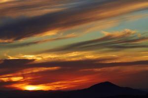 Sunset over Saddle Hill, Dunedin, South Island, New Zealand by David Wall