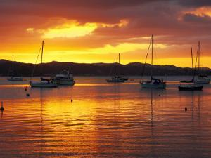 Sunset, Russell, Bay of Islands, Northland, New Zealand by David Wall