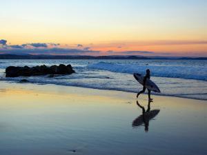 Surfer at Dusk, Gold Coast, Queensland, Australia by David Wall