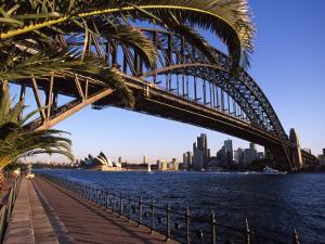Sydney Harbor Bridge and Sydney Opera House, Australia by David Wall