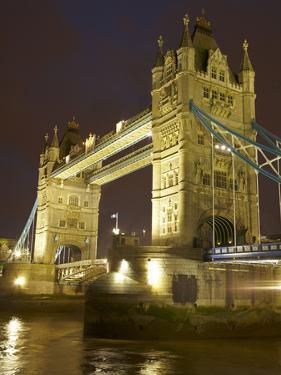 Tower Bridge and River Thames at Dusk, London, England, United Kingdom by David Wall
