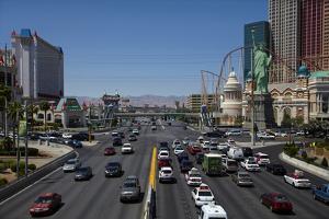 Traffic at Tropicana Avenue and the Strip, Las Vegas, Nevada by David Wall