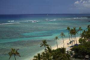 USA, Hawaii, Oahu, Honolulu, Waikiki, Fort Derussy Beach Park by David Wall