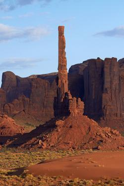 USA, Navajo Nation, Monument Valley, Totem Pole Rock Column by David Wall