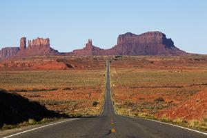 Utah, Navajo Nation, U.S. Route 163 Heading Towards Monument Valley by David Wall