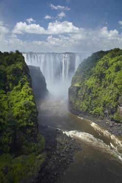 Victoria Falls and Zambezi River, Zimbabwe/Zambia border, Africa by David Wall