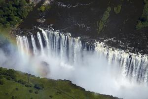 Victoria Falls and Zambezi River, Zimbabwe/Zambia border by David Wall