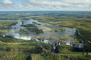 Victoria Falls or   Mosi-oa-Tunya   (The Smoke that Thunders), and Zambezi River, Zimbabwe by David Wall