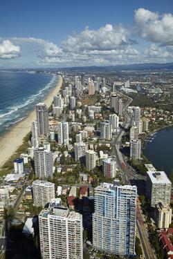 View From Q1 Skyscraper, Surfers Paradise, Gold Coast, Queensland, Australia by David Wall
