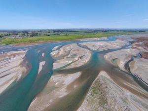 Waitaki River Near Coast, North Otago, South Canterbury Border, South Island, New Zealand by David Wall
