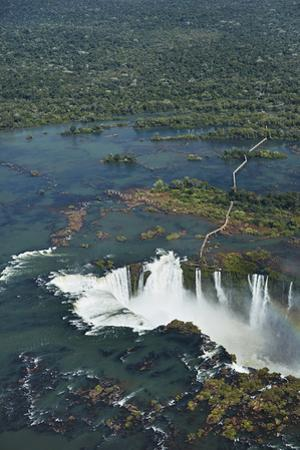Walkway and Devil's Throat, Iguazu Falls, on Brazil, Argentina Border by David Wall