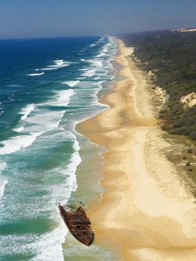 Wreck of the Maheno, Seventy Five Mile Beach, Fraser Island, Queensland, Australia by David Wall