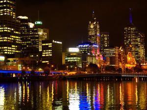Yarra River, Queens Bridge and CBD, Melbourne, Victoria, Australia by David Wall