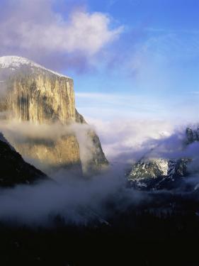 Winter Fog Surrounding El Capitan, Yosemite National Park, California, USA by David Welling