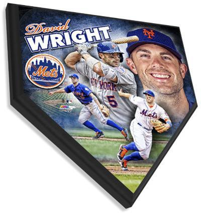 David Wright Home Plate Plaque