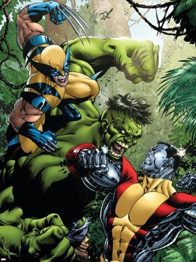 X-Men Vs Hulk No.1 Cover: Wolverine, Colossus and Hulk by David Yardin