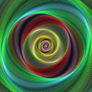 Colorful Abstract Geometric Spiral Design Background by David Zydd