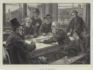 A Game at Dominoes by Davidson Knowles