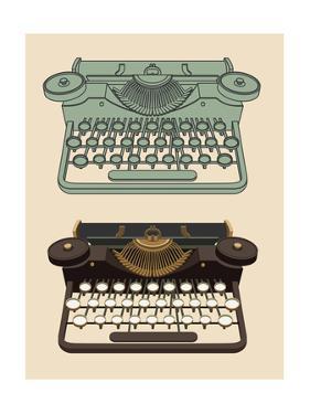 Vintage Typing Machine by davooda