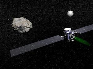 Dawn Robotic Spacecraft Orbiting Ceres and Vesta