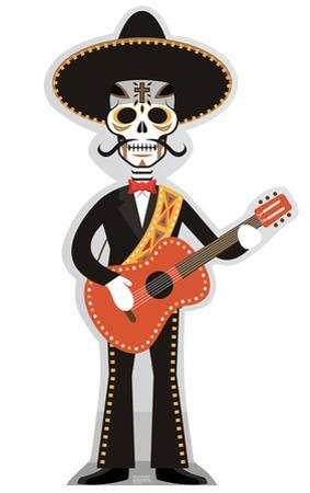 Day of The Dead Guitar Player