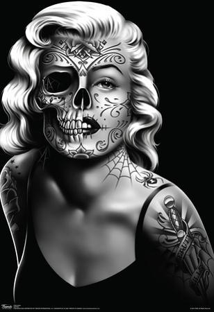 Daygirl Skull Face Poster