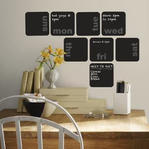 Days of the Week Planner Chalkboard Peel and Stick Wall Decals