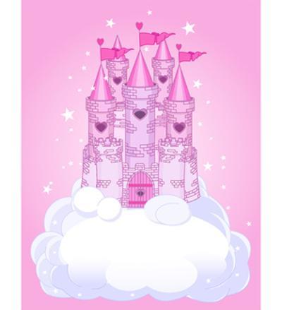 Illustration of a Fairy Tale Princess Castle in the Sky. Raster Version. by Dazdraperma