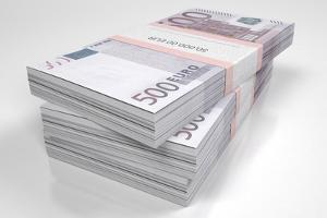 Packets of 500 Euro Bills by dbajurin